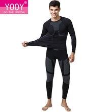 YOOY เสื้อผ้าผู้ชายยาว Johns Plus ขนาดชุดชั้นในผู้ชายฤดูหนาว 2 ชิ้นชุดเซ็กซี่ Quick Dry Men เสื้อผ้า 2018