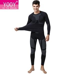 Image 1 - YOOY vêtements dhiver Sexy pour hommes, ensemble deux pièces, Johns grande taille, vêtements pour hommes, Long, à séchage rapide, sous vêtement thermique