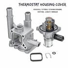 Car Cooling Thermostat Housing Cover Assembly 96984103 96984104 96817255 71770832 71744389 for Chevrolet Opel Aluminum