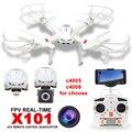 X101 ET Drone RC MJX Rc Helicóptero MJX X101 6-Axis Gyro aviones no tripulados puede añadir diferentes tipos de FPV Cámara HD Wifi C4018 C4008 C4005