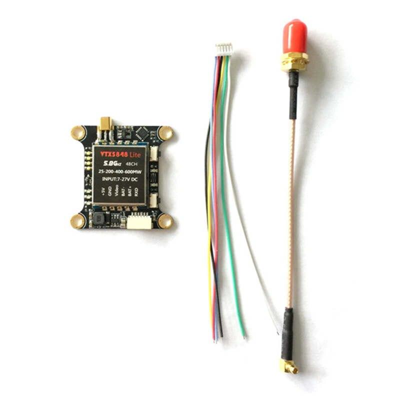 VTX5848 LITE 48CH 5.8g 25/100/200/400/600 mw VTX Switchable Transmissor de Vídeo Módulo modelos de Controle De OSD Para FPV RC Multicopter