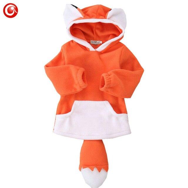 Baby Boys Fox Costume Jacket Long Sleeve Newborn Girls Cute Coat Clothes Kids Hooded Animal Outwear Clothing 7-24M