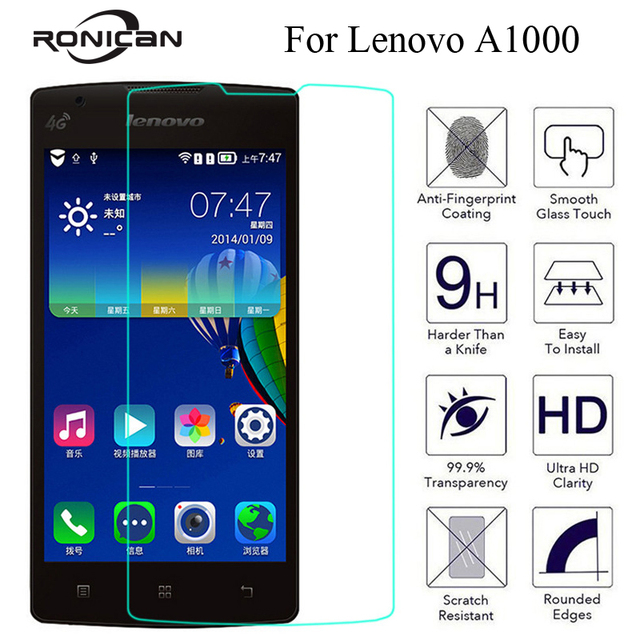RONICAN Tempered Glass Screen Protector For Lenovo A1000 A 1000 A2800 D 2800 Explosion Proof Anti Shatter Film