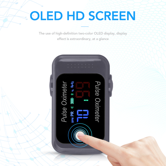 OLIECO Bluetooth Fingertip Pulse Oximeter OLED Blood Oxygen Saturation Meter SPO2 PR Oximetro de dedo Family Health Care Tool 3