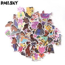 58pcs DMLSKY BoJack Horseman Waterproof Pvc Scrapbooking for Phone Luggage Laptop Guitar Furniture Decoration M3200