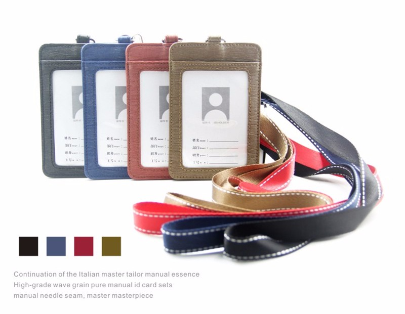 High-grade Pu Card Holder Staff Identification Card Neck Strap With Lanyard Badge Neck Strap Bus Id Holders Buy Now Back To Search Resultsoffice & School Supplies