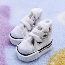 1 Pair Toy Accessories Joint Sneakers Girl Boy Gift Lace Up Fashion Mini Doll Shoes Baby Canvas DIY Toy Handmade(China)