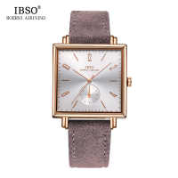 IBSO Business Watches Men Brand Square Dial Creative Quartz Watch Relogio Masculino 2019 Fashion Wrist Watch #8243