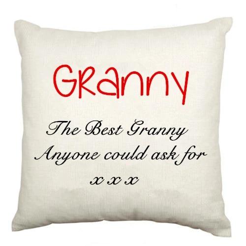 personalized the best granny throw pillow case grandparent cushion cover velvet custom name grandma grandmother gifts home decor