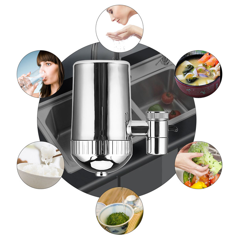 Image 2 - Stainless Steel Faucet Water Filter Mineral Stone Tap Water Purifier Kitchen Tap Water Filter Rust Removal Washable Filter 31-in Water Filters from Home Appliances