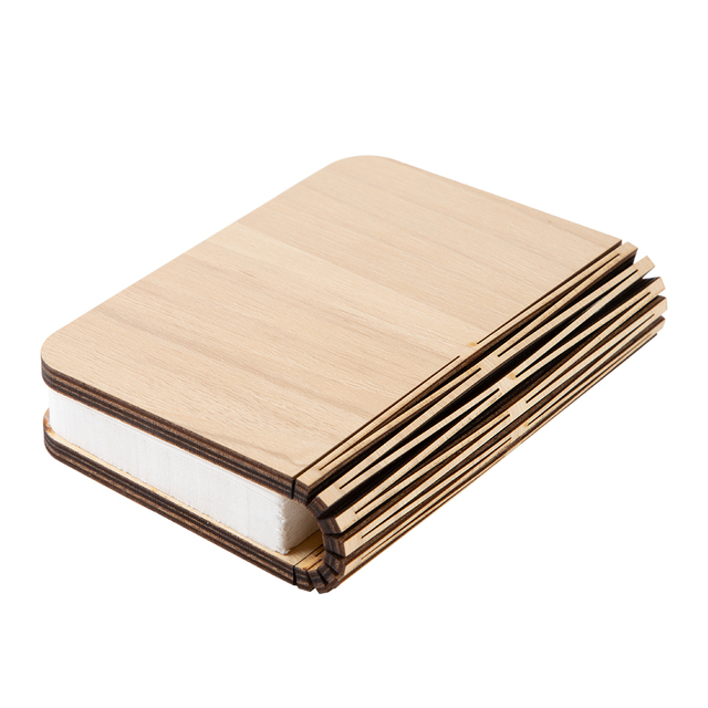 LED Foldable Wooden Book Shape Desk Lamp