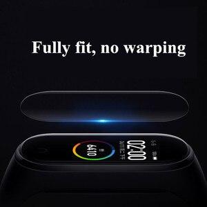 Image 4 - Mi banda 4 3 filme de tela protetor de película protetora 5 pçs 2pcs 1pc para xiaomi mi banda 4 3 anti risco mi band4 pulseira miband 4