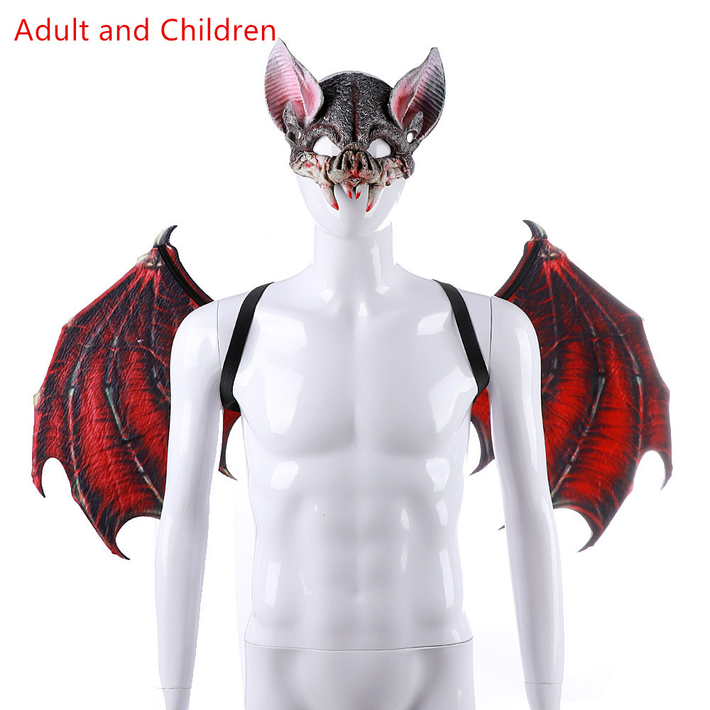Batrider Party red Suit Masquerade Props Felt Children's day costume Vampire Bat Cosplay Costume Anime Devil Halloween Wings