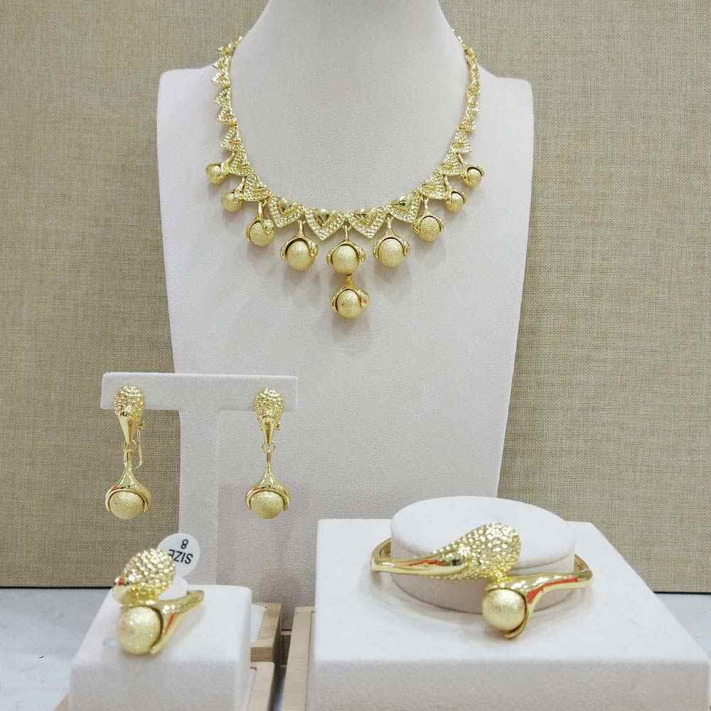 Viennois New Rose Gold / Gold Color Necklace Set For women Geomertic Necklace Earrings Set Party Jewelry Set