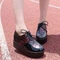 ГОРЯЧАЯ!!! камуфляж Женщины Лианы Обувь 2015 Осень Дышащая Туфли На Платформе Женщин Толстый Каблук Обувь x523 50