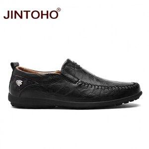 Image 3 - JINTOHO 2019 Men Leather Shoes Brand Mens Fashion Shoes Men Casual Leather Shoes Genuine Leather Men Loafers Boat Shoes