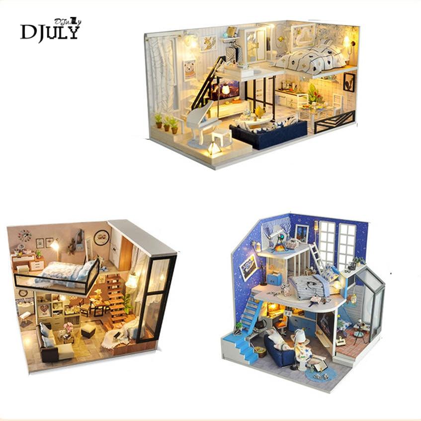 Creativo per bambini fai da te loft villa 3d modello di luci di notte A Mano assemblato casa lampada da comodino bambino bambini di lavoro manuale di regalo di compleanno