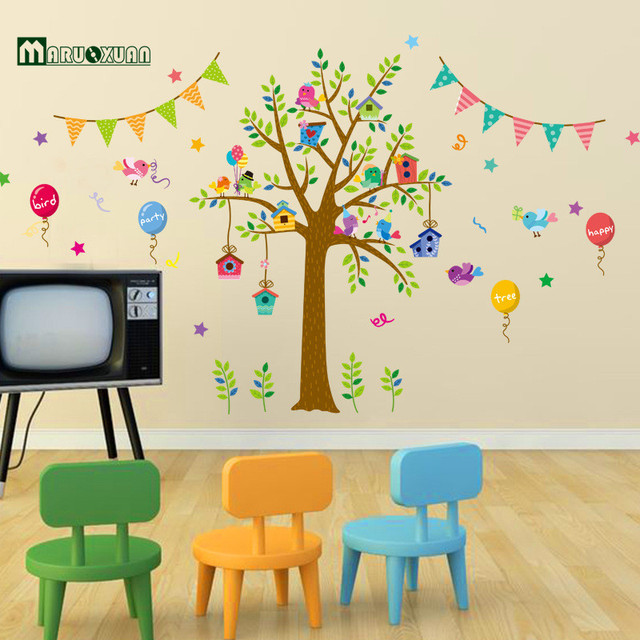 Maruoxuan Owl Bird Party Tree Wall Stickers For Kids Rooms Children Baby  Nursery Rooms Home Decor Part 69