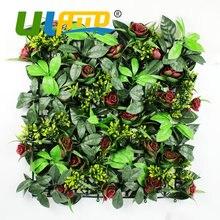 Uland Искусственные суккуленты растения на открытом воздухе преграды панелей забора 50×50 см/PC DIY сад пластиковый цветок Wall Art балкон украшения