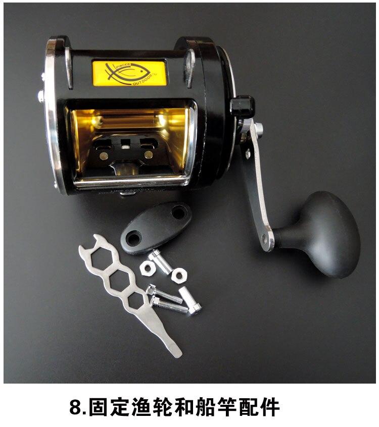 Bobinas de Metal Luna100ll Bait Casting Lure Fishing