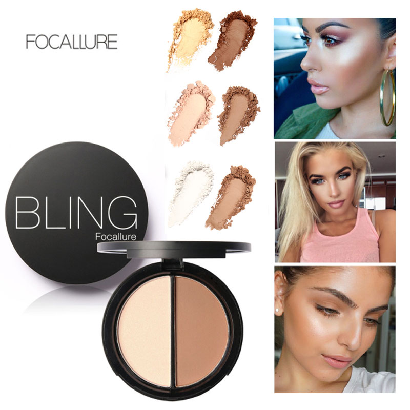 FOCALLURE Face Makeup Shimmer Bronzer and Highlighters Puder do makijażu Korektor do makijażu Makeup Contour