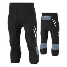 Hot Summer MTB Road Padded Black 3/4 Cycling Pants Men Ciclismo Bicycle Short Pants Fitness Sportswear Cycling Clothing 4XL/5XL acacia 0297003 men s stylish cozy dacron spandex cycling pants black l