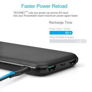 Image 3 - TeckNet 10000 mah Power Bank TYPE C Tragbare Externe Batterie Pack mi cro USB Lithium Polymer Ladegerät für iPhone Xiao mi mi