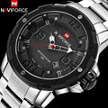 Men sport Watches NAVIFORCE brand men quartz watch steel band auto date wristwatches for men 30M waterproof relogio masculino