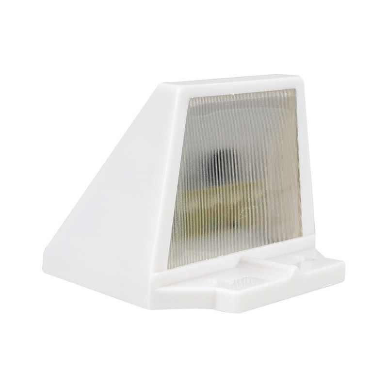 Солнечная панель питания 4 светодиодный для забора, водостоков свет открытый сад стены для вестибюля, для тропинки лампа теплый белый