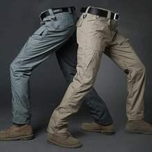 Мужские тактические брюки карго повседневные из хлопка с множеством