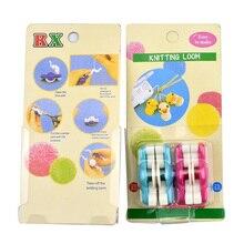 Looen Brand 2pcs/lot Mini Pom Maker Fluff Ball Weaver Needle Knitting Wool Tool Yarn Loom for 20mm and 25mm Pompoms