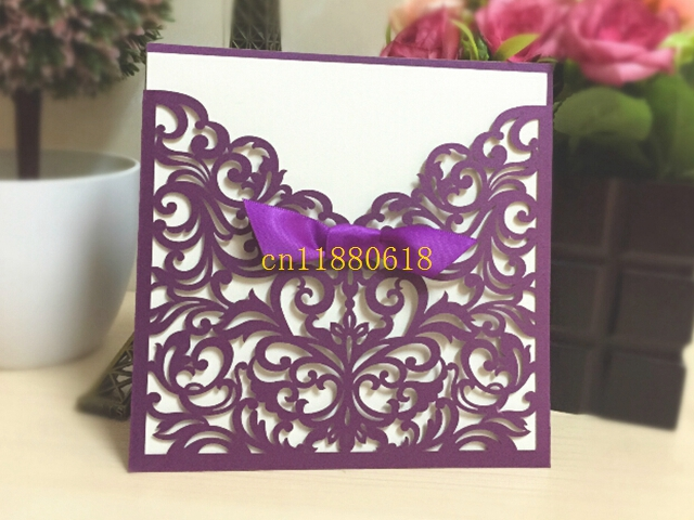 100pcs Lot Western Style Laser Cut Lace Flower Pattern Customizable Printable Wedding