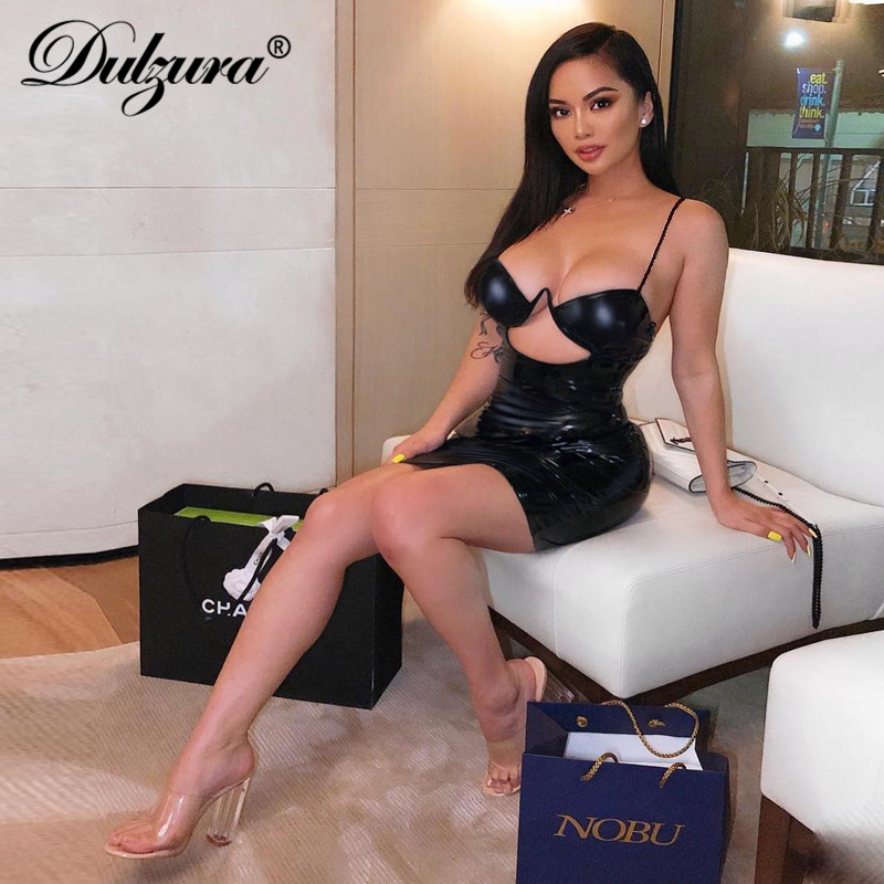 Dulzura 2019 summer women dress <font><b>sexy</b></font> bodycon party dress hollow out backless dresses elegant <font><b>festival</b></font> black <font><b>club</b></font> streetwear <font><b>club</b></font> image