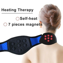 лучшая цена Cervical Collar Headache Back Shoulder Pain Relief Neck Brace Magnetic Therapy Cervical Vertebra Self Heating Neck Support Strap
