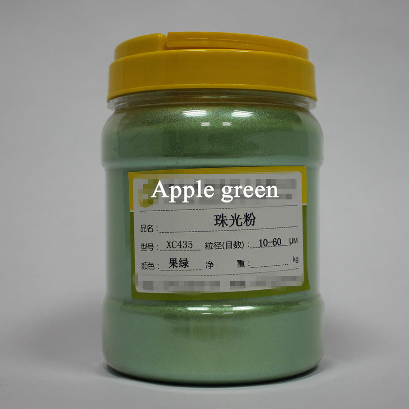 Dofuny Free shipping Apple Green Healthy Natural Pearl Powder Pigment Mica Powder Dye Soap Make up Artwork Pigment 500g sigma rox 8 0