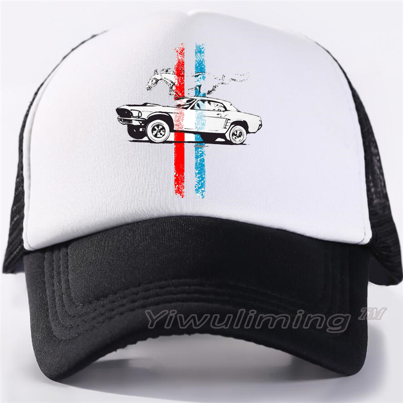 New Summer Trucker   Caps   ford mustang Cool Summer Black Adult Cool   Baseball   Mesh Net Trucker   Caps   Hat for Men Adjustable
