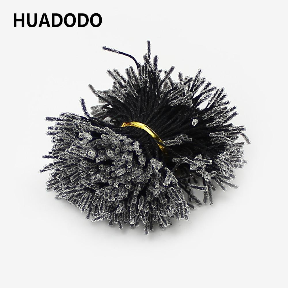 HUADODO 1 мм 500 шт. черные двойные головки, искусственные цветы для рукоделия, шелковые цветочные тычинки, украшения|Искусственные и сухие цветы|   | АлиЭкспресс