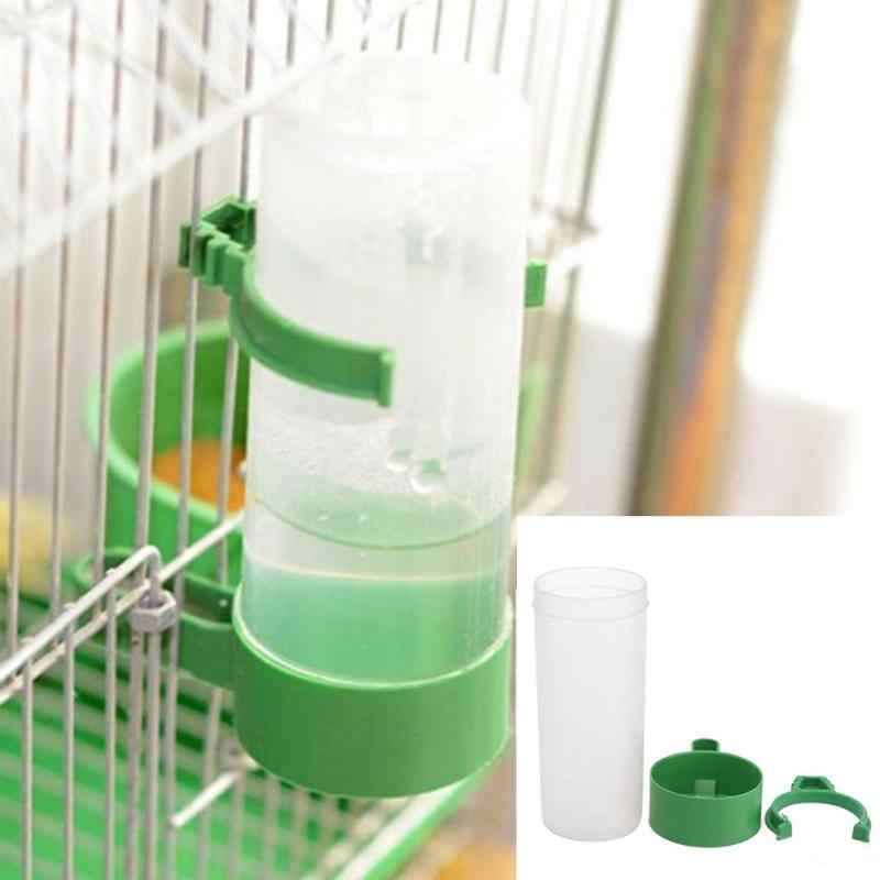 60ml/140ml Practical Aviary Budgie Cockatiel Birds Feeding Equipment Parrot Bird Drinker Feeder Watering Plastic with Clip