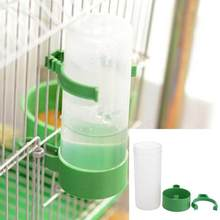 60ml/140ml Practical Aviary Budgie Cockatiel Birds Feeding Equipment Parrot Bird Drinker Feeder Watering Plastic with Clip(China)