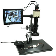 Promo offer 2.0MP HD Industry Microscope Camera VGA USB AV TV Video Output+180X Optical C-Mount Lens+Stand Holder+LED Lights+8-inch Screen