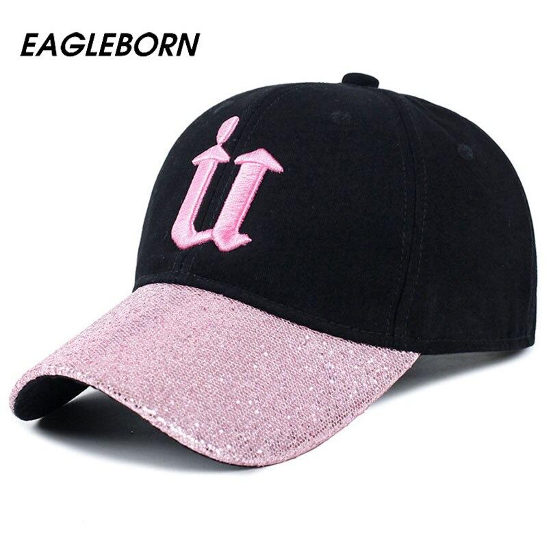 Prix pour 2017 EAGLEBORN Brand New Bling baseball cap hommes femmes snapback diamant boutique broderie U Mode Casual coton cap chapeaux