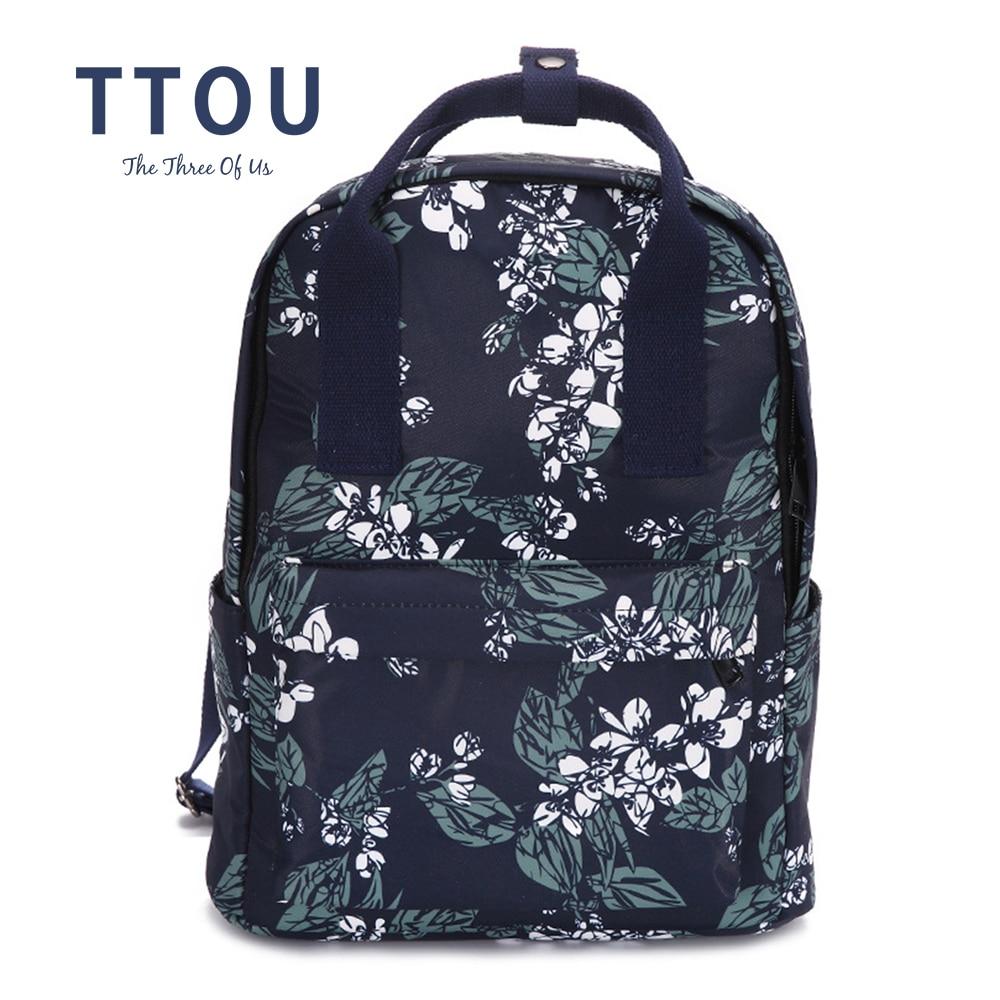 TTOU Fashion Women Canvas Backpacks Female School Bag For Teenagers Girls Kanken Printing Rucksack Large Laptop Backpack