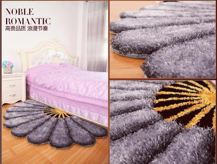 80X150 см утолщенные секторные ковры для спальни, современные 3D коврики с изображением цветов и ковров, диван-пол, детский игровой коврик, половик с цветочным рисунком