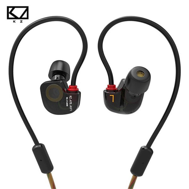 Original KZ ATE-S In Ear Earphones HIFI Stereo Sports Earphone Super Bass Noise Canceling Earbuds with Mic for Smartphones PC