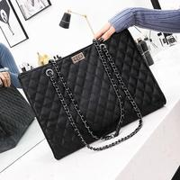 European style retro handbags 2018 Fashion New High quality PU leather Women's Designer Handbag Big Tote bag Chain shoulder bag