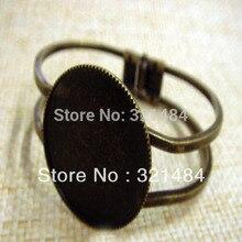 Оптовая продажа 100 шт античная бронза латунь 30 мм круглый браслет пустая база лоток рамка Кабошон Настройка