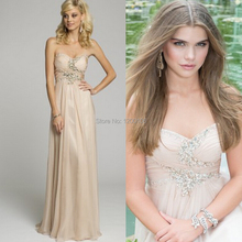 Free Shipping Sexy Cheap Chiffon Dress For Wedding Beaded Rhinestones Long Coral Bridesmaid Dresses 2015