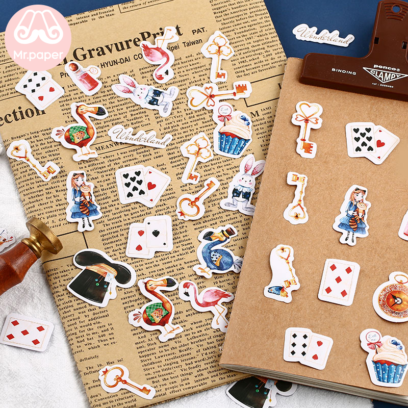 Mr.paper 40Pcs/box Candy Fairy Tales Deco Diary Stickers Scrapbooking Planner Japanese Kawaii Decorative Stationery Stickers 6