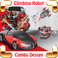Hotsale Presente 1/24 Alpinista Parede Carro RC Transformar Brinquedos Máquina Veículo Modelo Combo Racer Elétrico Escalada Esportes Carros Presentes
