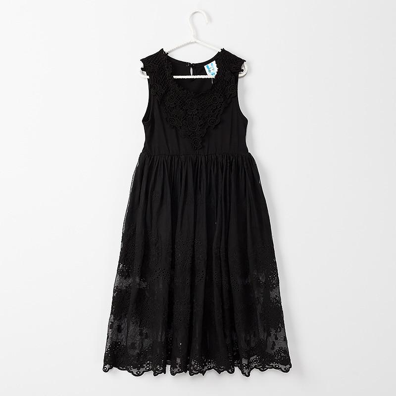 2019 Fashion New Cotton Girls Lace Dress Kids Floral Dress Beautiful Children Sundress Baby Dress Girl Summer Dress,2 14Y